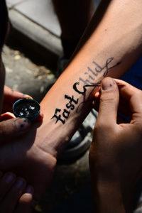 frische Tattoos müssen gut gepflegt werden.